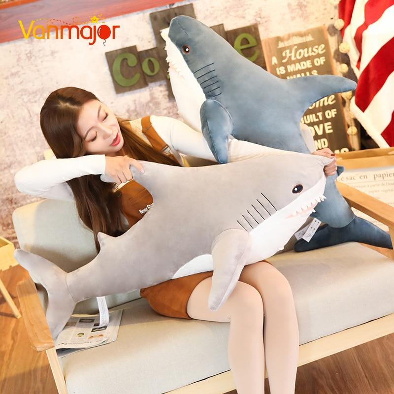 Vanmajor 100 cm mignon requin figurine simulation requin en peluche jouet simulation animal en peluche jouet cadeaux de noël