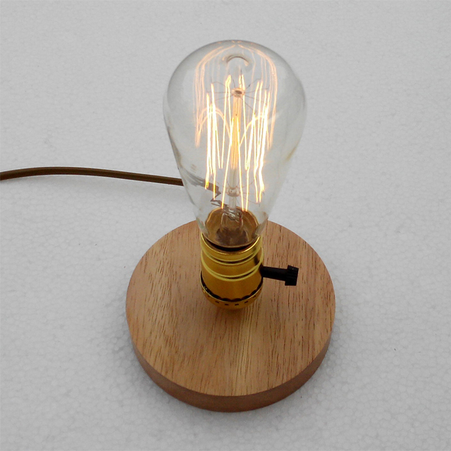American Country DIY Desk Lamp For Office Retro Edison Lampadas Vintage  Head Of Bed Bedroom Desk