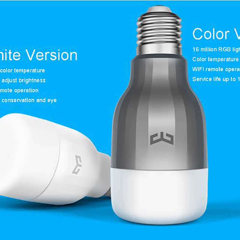 الأصلي شياو mi App wifi Yeelight الأزرق الثاني E27 9WLED مصباح ذكي (اللون) 600 لومينز إضاءة مي لايت هاتف ذكي واي فاي التحكم عن بعد