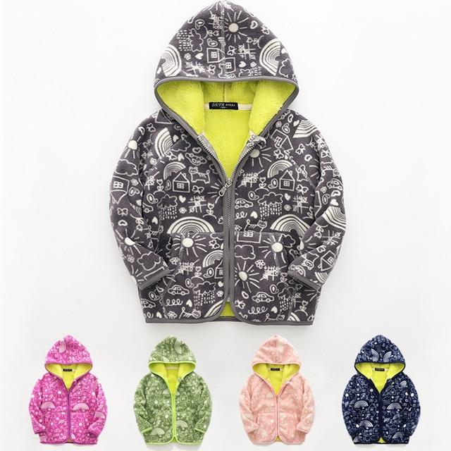 5b7eda9fa baby boy girls coats and jackets kids boys girl fleece coat jacket winter  children hooded outerwear 2018 spring autumn clothes