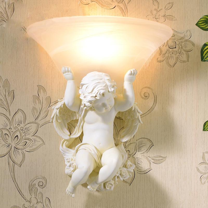 Bagno Cupido luce lampade da parete applique da parete per la camera da letto riparo della parete dell'hotel lampada Specchio