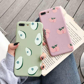 Summer Fruits Avocado Soft Case For Vivo Y85 Y66 Y67 Y71 Y75 Y79 Y83 Y93 Y97 Y95 Y17 Y3 V15 X27 X9 X9S X20 V7 Plus Cover free shipping for vivo x23 x27 cartoon case x30 pro y5s y9s y83 y85 y93 y95 y97 y3 y7s s1 s5 s6 u1 v11i z1 z3 z5 z6 phone case