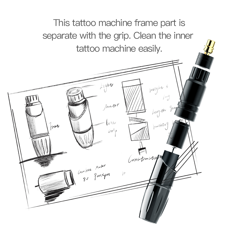 Image 5 - Permanent Makeup Machine Rotary Tattoo Gun Pen Eyebrow Lips Tattoo Machine Pen Device Set Accessories for Tattoo-in Eyebrow Tattoo Machine from Beauty & Health