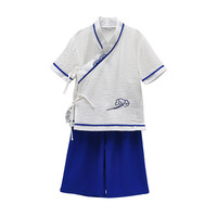Baby Boys Cotton Linen Costume Ancient School Uniform Stage Performance Tang Suit Clothing Chinese Style Cosplay Clothes