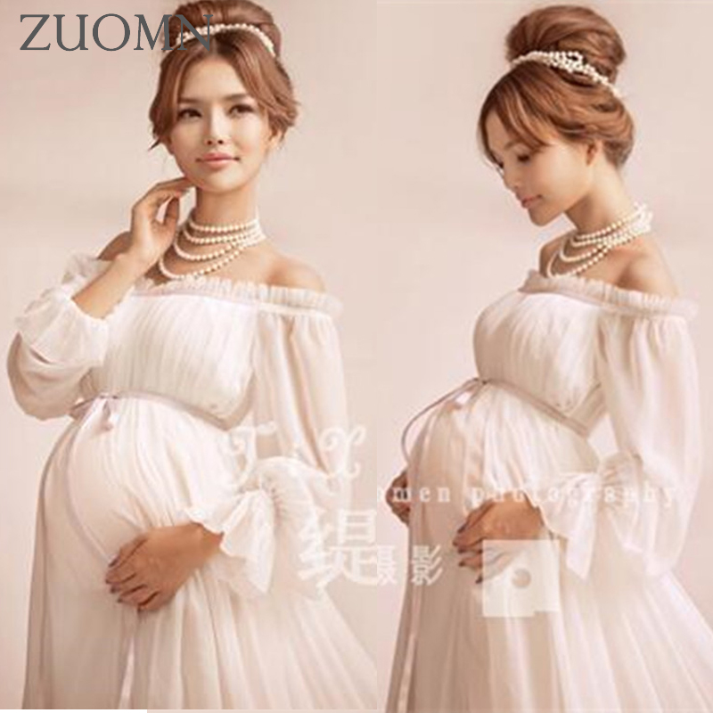 Maternity Photography Props Pregnant Dress Robe Grossesse Photographie Fashion Maternity Dresses For Photo Shoot GH398