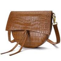 Высокое качество Натуральная кожа роскошные Аллигатор седельный наплечный мешок женские сумки через плечо для женщин модные сумки мессенд