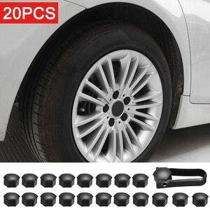 Image 2 - Roda porca tampa para tesla modelo 3 roda porca cobre lug tampa da roda lug porca capa kit extrator 21 pçs duas cores estilo do carro