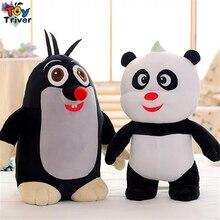 35cm Moles Stroy Panda Mole Childhood Memories Plush Toy Stuffed Animal Doll Baby Kids Children Gift Home Decor Drop Shipping