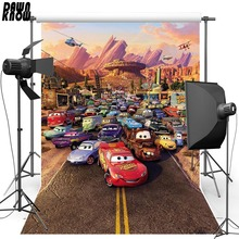 DAWNKNOW Fairy Tale Vinyl Photography Background For Baby Cartoon Car Polyester Backdrop Children photo studio Props G082