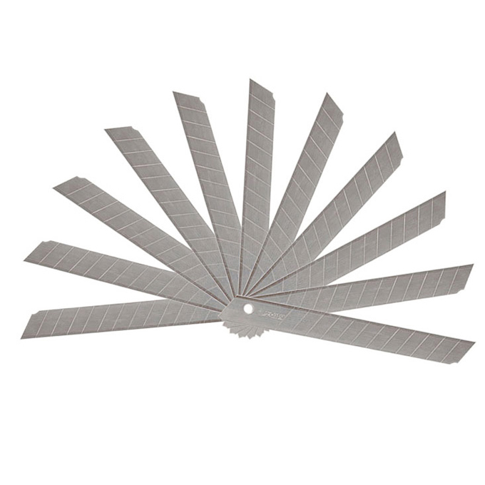 10pcs/Pack 9mm Art Paper Cutter Knife School Supplies Utility Knife Blades Low Carbon Alloy Steel Knife Office Stationery