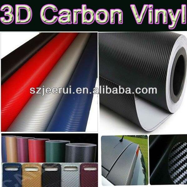 Air Bubbles Free 3m Carbon Fiber Color Vinyl Film Car Wrap