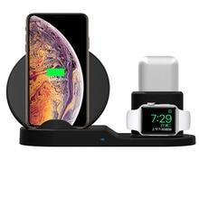 高速充電ワイヤレス充電器 Iphone XS XR XS 最大 3 で 1 ワイヤレス充電器 Apple 腕時計シリーズ 1 2 3 Airpods