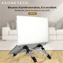 Ultralight Laptop Stand Support 15 inches or less Laptop holder For macbook pro air stand desktop Adjustable Fold Notebook Stand space saving aluminum vertical stand for laptop macbook pro air thickness adjustable desktop notebooks holder erected