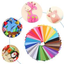 40Pcs/lot Colorful Non Woven Felt Fabric Polyester Cloth Sewing Craft Bundle Kids DIY Dolls Toys Home Decoration