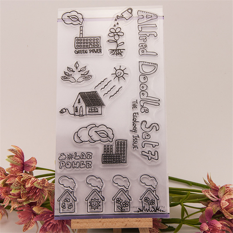 New arrival scrapbooking DIY Transparent Clear little house in village Rubber Stamp Seal Paper Craft Scrapbooking RM-213 little house in bakah 3 иерусалим