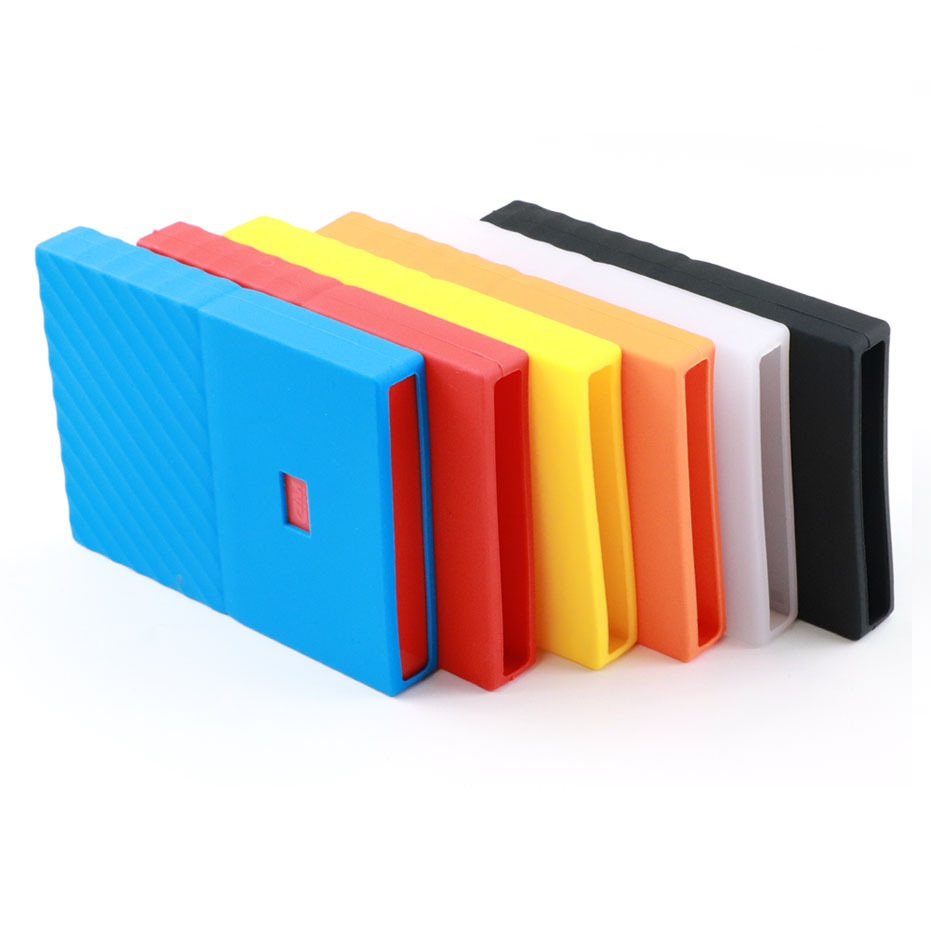 "2.5 Inch HDD Silicone Case Hard Drive Disk Cover Protector Skin Ultra Soft 2.5"" HDD Case For WD My Passport 1TB 2TB 3TB 4TB"