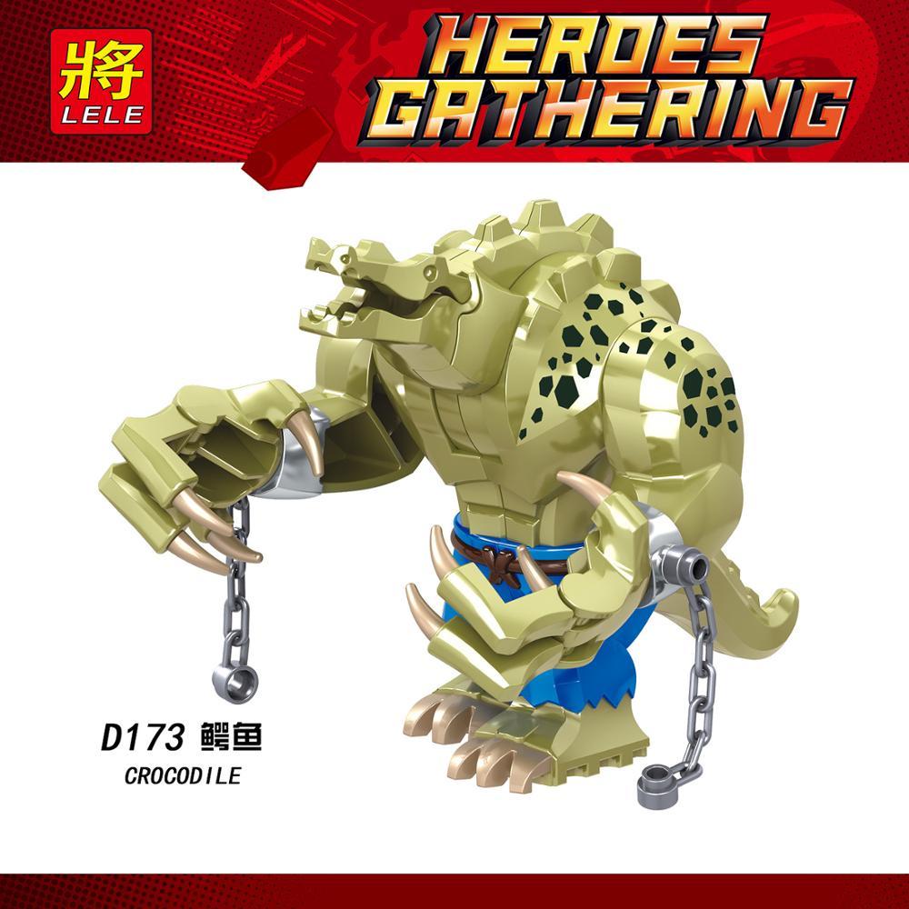 25pcs Building Blocks Cartoon Cute Animal Movie Series Big Size Crocodile Killer Figures Gift Bricks Learning