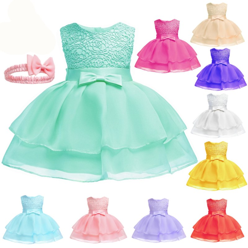 Flower Toddler Baby Girl Infant Princess Dress Baby Girl Wedding Dress lace tutu Kids Party Vestidos for 1st birthday 2016 new style kids infant baby girl flower girl dress for wedding girls party dress with big bow lace dress for 3 8years