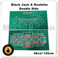 Green color Roulette and Black Jack gaming tablecloth 60cm120cm thicken material