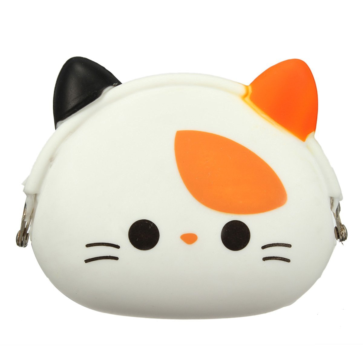 FGGS-Women Girls Wallet Kawaii Cute Cartoon Animal Silicone Jelly Coin Bag Purse Kids Gift Small Cat fggs 13 colors lovely girls wallet candy color kawaii cute cartoon animal multicolor silicone jelly coin bag purse kids gift