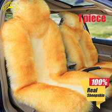 Okayda car seat cover Soft Australia fur natrual sheepskin 1pc deluxecar accessories cushion styling factory price
