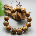 12MM  stripes  WOOD  Beads  Buddhist Prayer Bracelet Mala x1 ML02