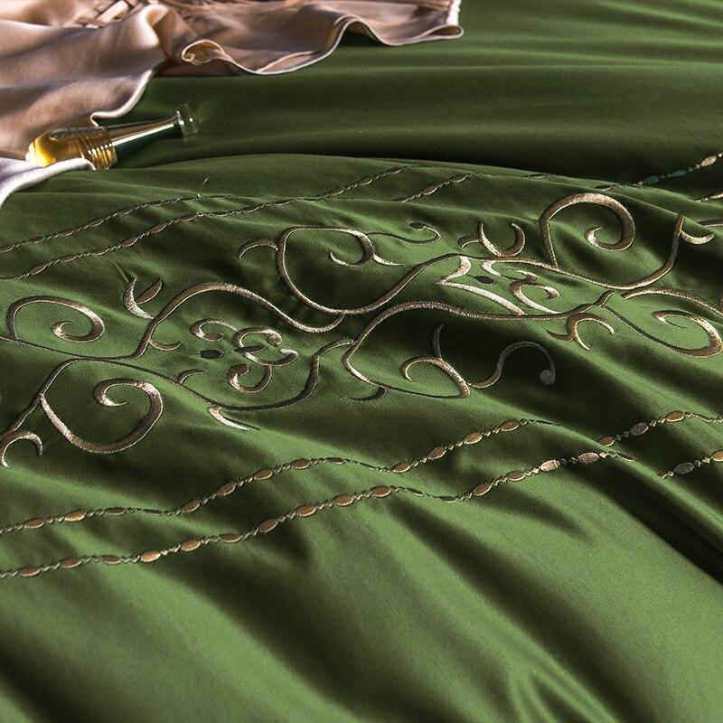 (8)  White silver cotton imitate silk luxurious Bedding Set queen king measurement mattress set Bedsheets linen Europe embroidery Quilt cowl set HTB1INucpb1YBuNjSszhq6AUsFXaq