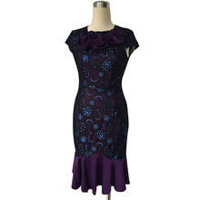 Floral Lace Formal Wiggle Dress
