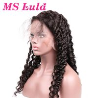 MS Lula Pre Plucked 360 Lace Frontal Wig 150 Density Natural Hairline Deep Wave Brazilian Hair