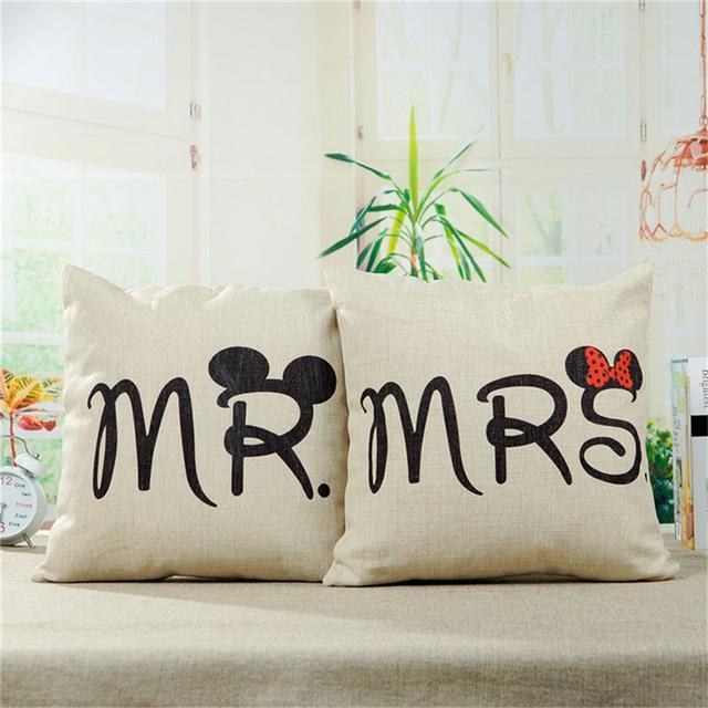 Mr & Mrs Pillow Case