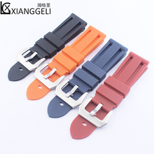 Luxury strap with 24mm waterproof silicone for Panerai PAM243  441 111 rubber watch accessories mens ladies