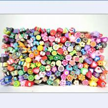 Fast ship way Candy color DIY nail art sticker decal mini soft Clay Canes rods as phone de