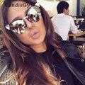 Gato Olho de Strass Designer de Marca Do Vintage Óculos de Sol Da Moda Clássicos Óculos de Sol Espelho de Prata Lady Feminino UV400 Quadro Torto
