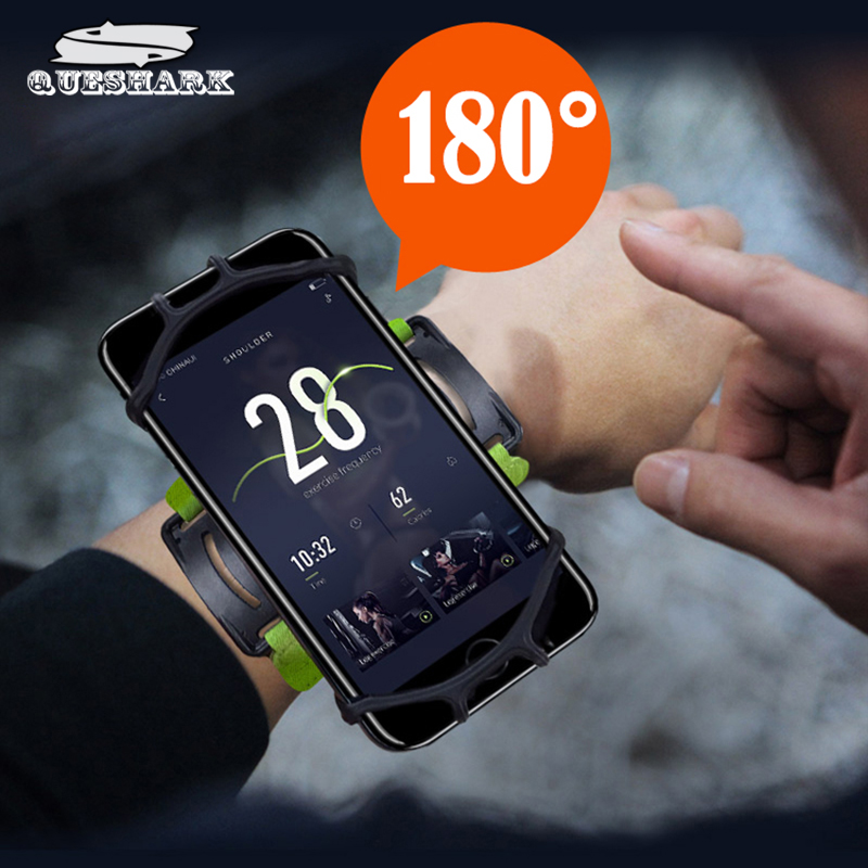 Rotatable Running Bag Phone Arm Case Waterproof Armband Sport Wrist Bag Belt Key Holder Pouch for Samsung iPhone 8/X 4~6 Inch