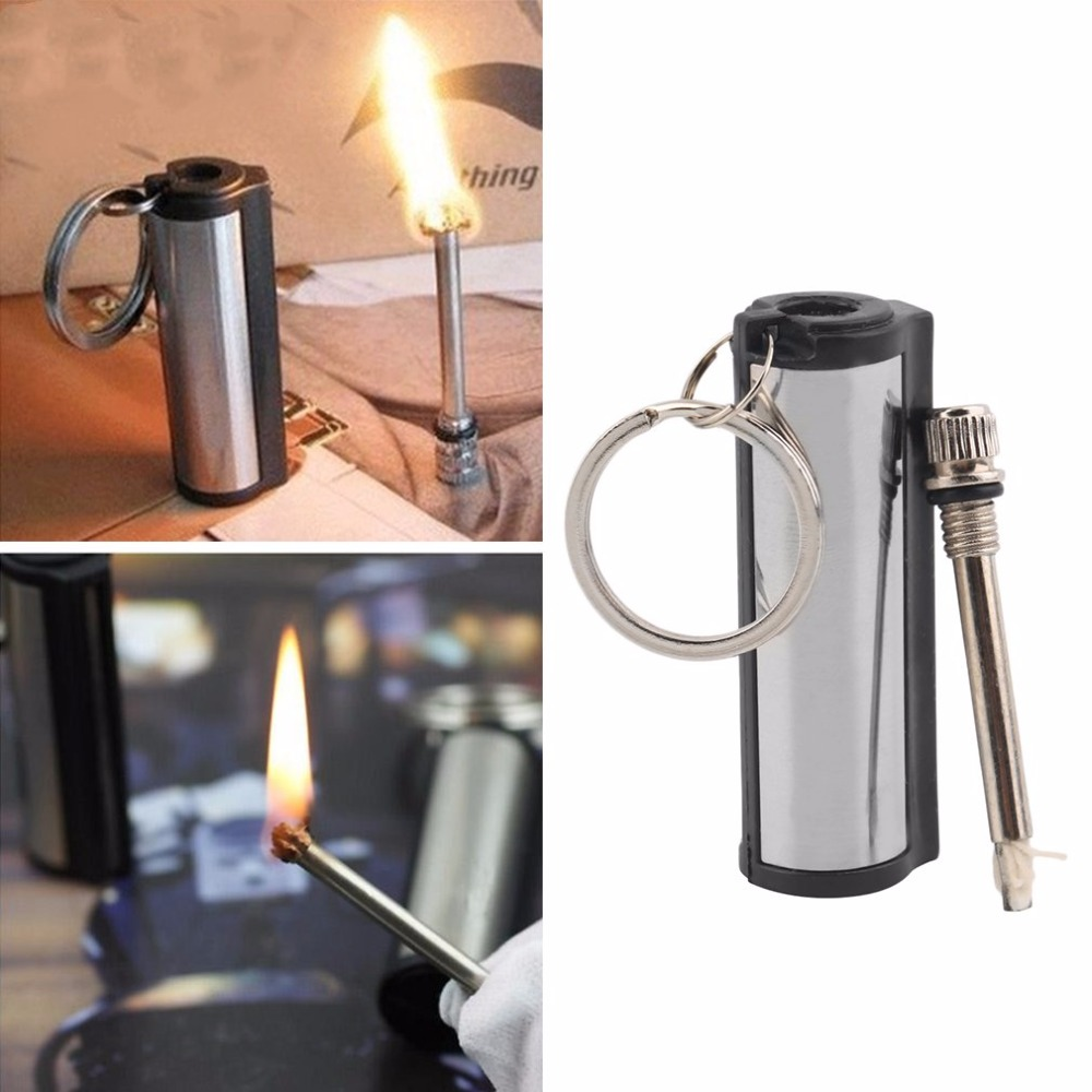 Useful Emergency Fire Starter Flint Match Lighter Metal Outdoor Camping Hiking Instant Survival Tool Safety Durable accessory fire blanket emergency survival fire shelter safety protector white 100 x 100cm