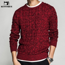 77e56e6c870bd KENNTRICE Fashion Autumn Knitted Mens Sweaters 2018 Men Jumper Red Color  Cotton Christmas Sweater Men(
