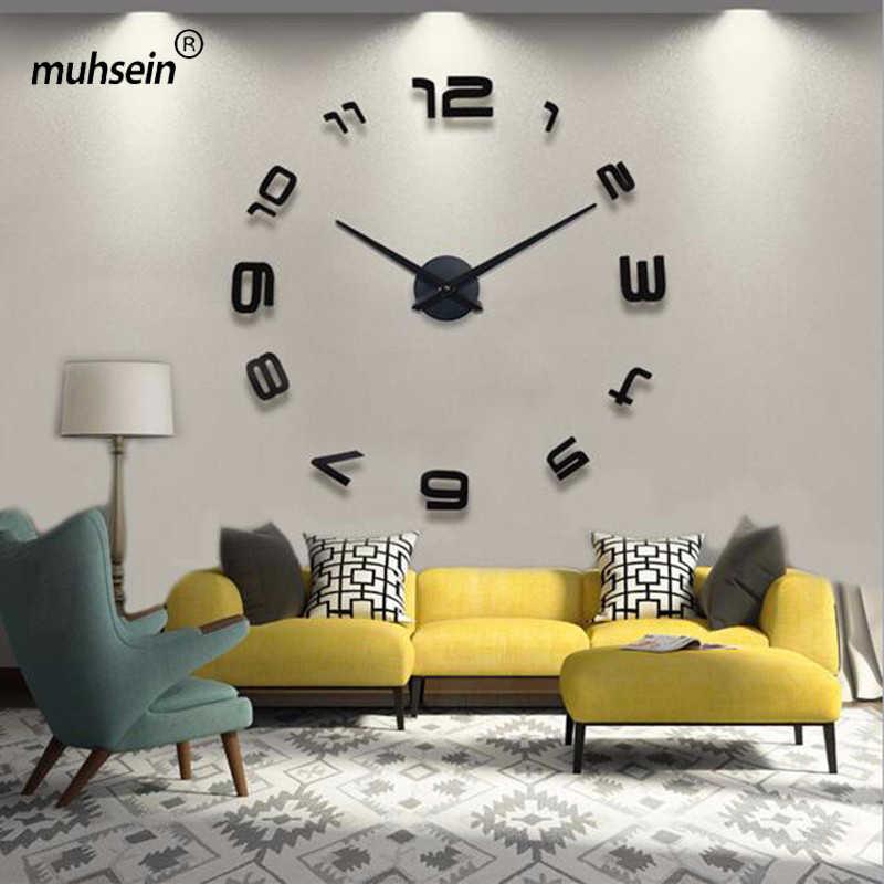2020 עיצוב הבית סלון שעונים אופנה קצר קוורץ שעון גדול שעון חדש שקט קיר שעון Saat קלאסי סגנון