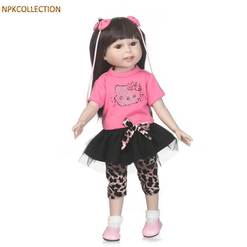 NPKCOLLECTION 18 Inch American Girl Doll Princess Doll,45CM Handmade Baby Toy Real Baby Alive Doll Girl Doll Christmas Gift Toys  18 inch lovely american girl princess doll baby toy doll with fashion designed dress journey girl doll alexander doll