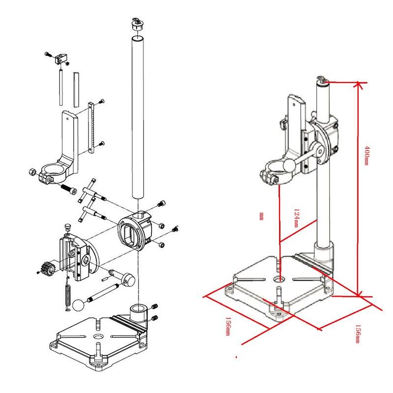 elétricas 90 ângulo ajustável base de ferro
