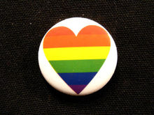 High quality PRIDE RAINBOW (HEART) NEW  BUTTON BADGE PIN low price gay lapel pin FH680029