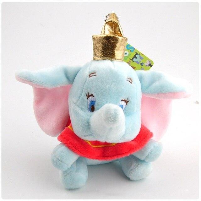 10 centímetros super bonito dumbo bicho de pelúcia boneca de Brinquedo de Pelúcia pequeno pingente adorável mini elefante dos desenhos animados Presentes para crianças Chave cadeia