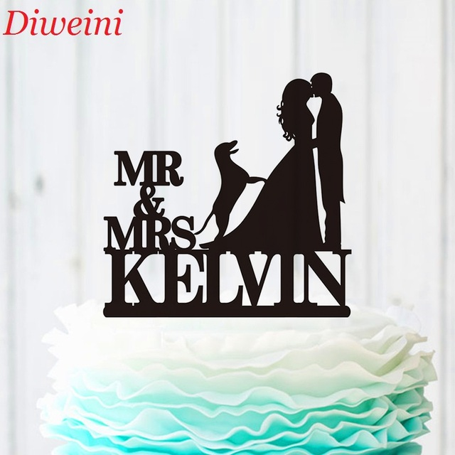 Wedding Cake Topper Party Supplies Personalised Silhouette Kiss