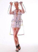 Free shipping fashion ladies girls plastic transparent eva long women raincoat hooded outdoor touring rainwear