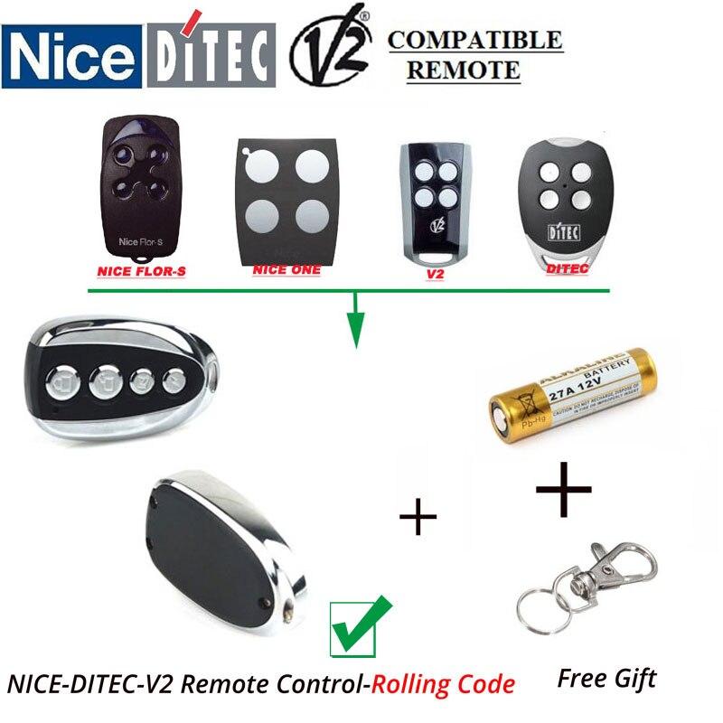 V2 Gate Door Opener Rolling code Handsender Remote Key Clone aftermarket v2 garage door remote v2 transmitter v2 radio control v2 rolling door remote repacement rolling code 433 92mhz