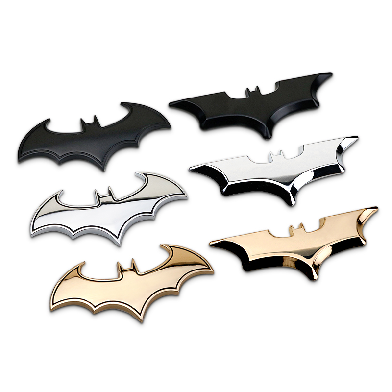 The Dark Knight BATMAN Bat Emblem Chrome Metal Car Styling 3D Sticker Badge Cartoon Film Hero Symbol Auto Motorcycle Top Quality Стикер
