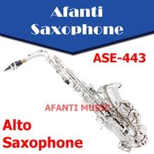 Afanti Music Eb tone / Brass body / Silvering Alto Saxophone (ASE-443)