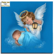Peter ren Diy Diamond mosaic Full Embroidery crafts painting Cross stitch Angel square crystal Picture by numbers night guardia