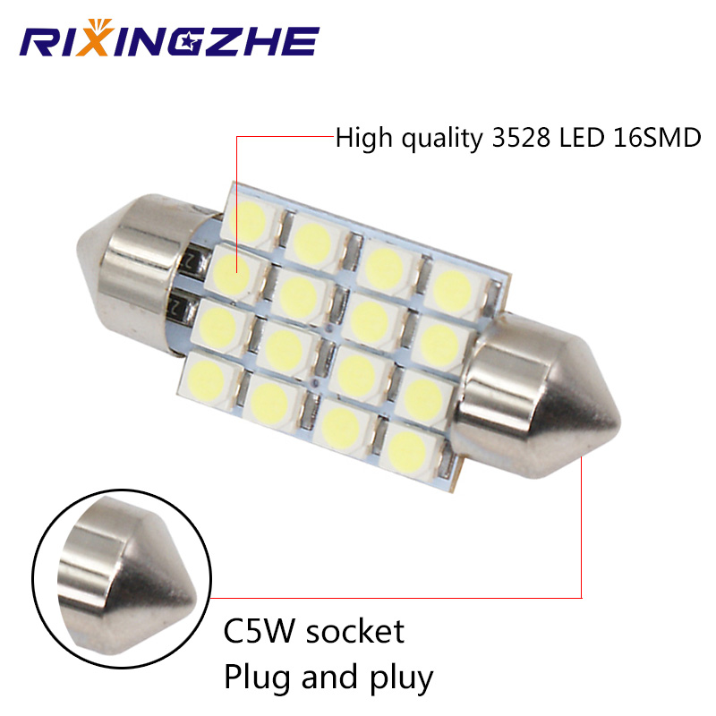 Rxz 50pcs Auto Interior Lights C5w Canbus 31 36 39 41mm 2835 12 16led Interior Reading Light Clearance Bulbs Auto Plate Lamp