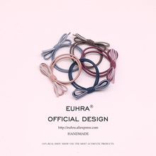 EUHRA 5 Colors Elastic Basic Simple Bow Two-Color Mixing For Women Hair Band Kid Children Rubber Band High Elasticity 5 colors elastic heart shape cassic simple for women hair band kid children rubber band high elasticity hair bands