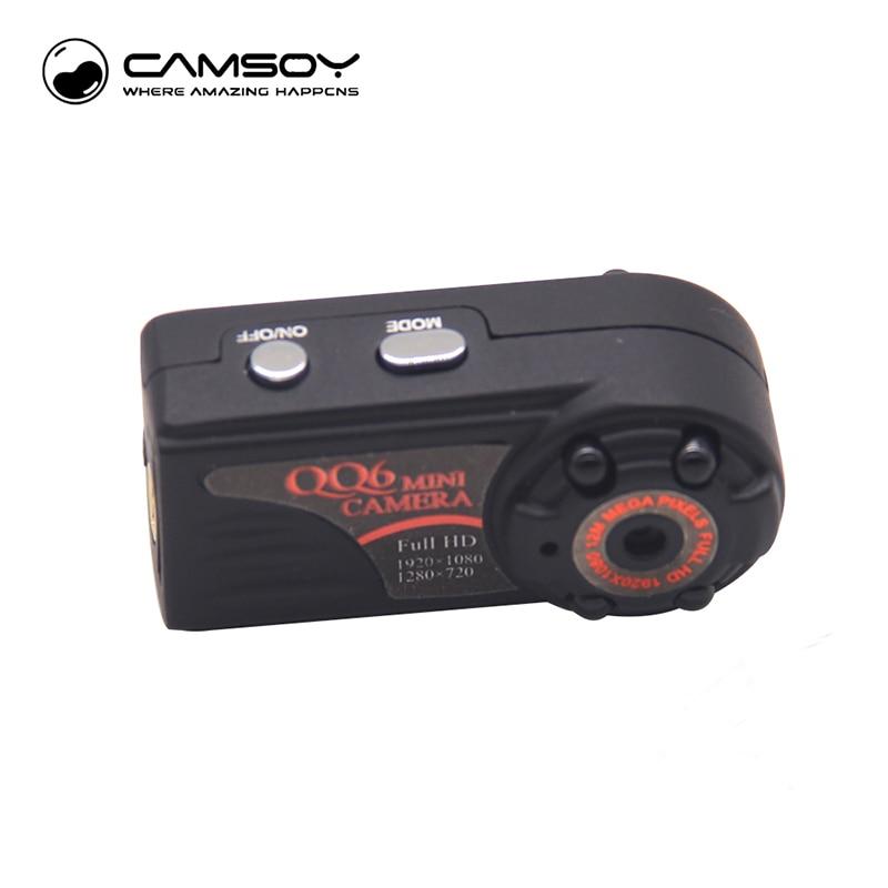 QQ6 Mini Camera Full HD 1080P vidvinkel mikrokamera IR Night Vision bevegelsesdeteksjonssensor DV DVR kamera Små webkamera
